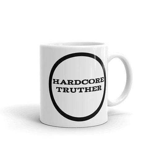 Hardcore Truther White glossy mug
