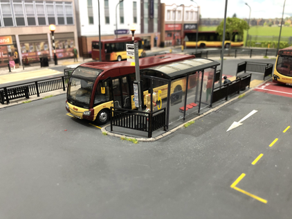 Solo SR parked in the bus station