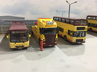 Our wrecker, beside the only Dominator Red Rover operates