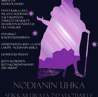 Liveroolipeli Nodianin uhka 7-12-vuotiaille 29.4.