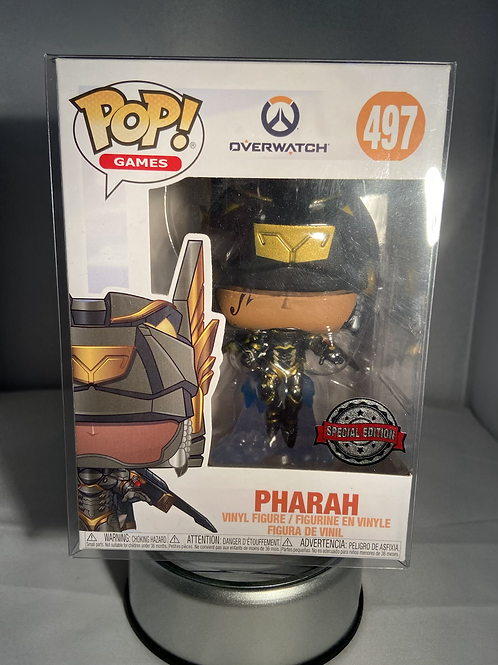 Overwatch Pharah Anubis Special Edition Funko Pop In Pop Protector