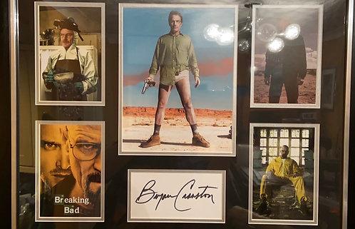 Bryan Cranston signed Breaking Bad mountage