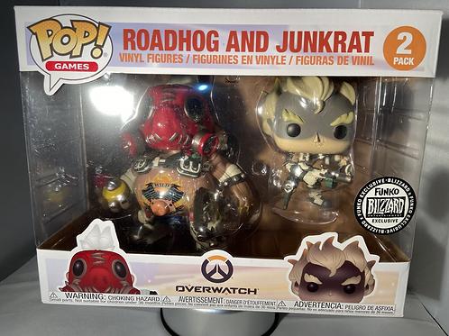 Overwatch Roadhog and Junkrat Blizzard Convention Exclusive Funko Pop Rare