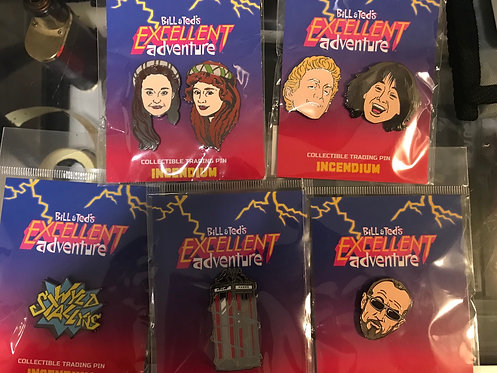 Bill And Teds Excellent Adventure Full Set Of Exclusive Pins