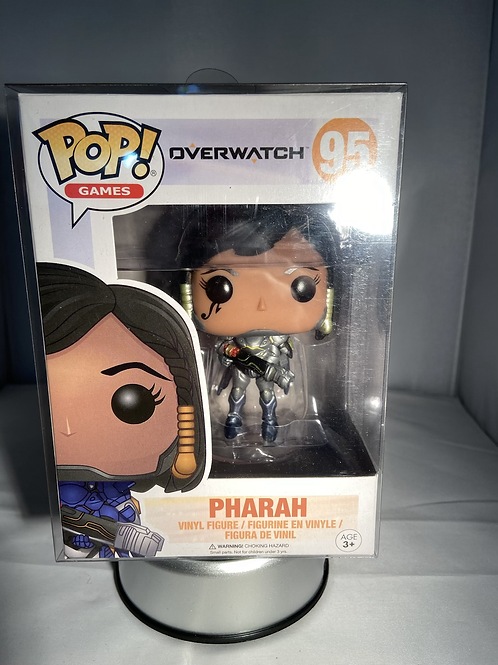 Overwatch Pharah Funko Pop Metallic Special Edition In Pop Protector