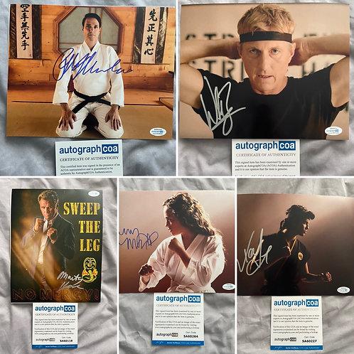 Cobra Kai Signed set of 5 Photos