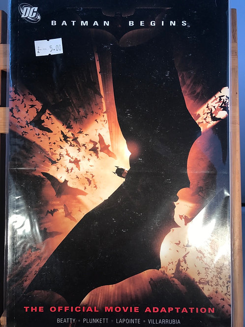 Batman Begins Official Movie Adaptation TPB Graphic Novel (Preowned)