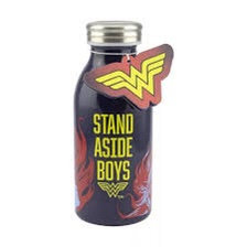 Wonder Woman Blue & Yellow Stand Aside Boys Water Bottle Stainless Steel