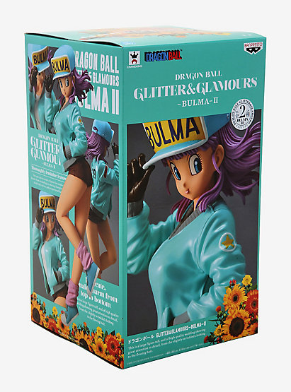 Dragonball Glitter and Glamour Bulma in Green outfit statue figure