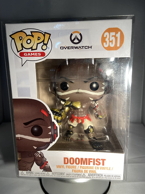 Overwatch Doomfist Funko Pop In Pop Protector