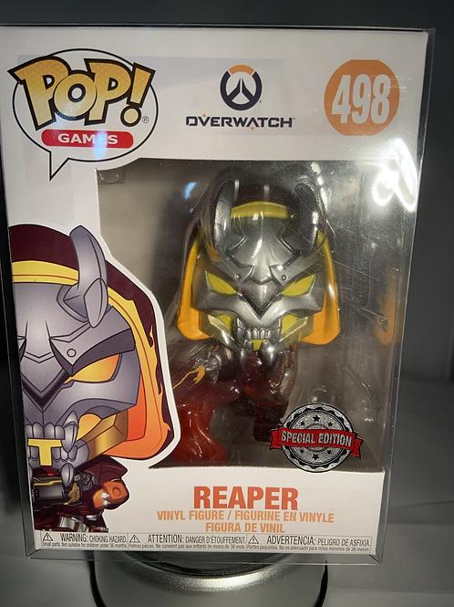 Overwatch Reaper Hellfire Special Edition Funko Pop In Pop Protector
