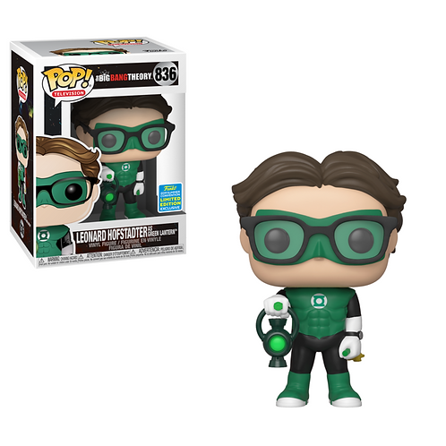 Funko Pop Big Bang Theory Leonard As Green Lantern 2019 Summer Exclusive