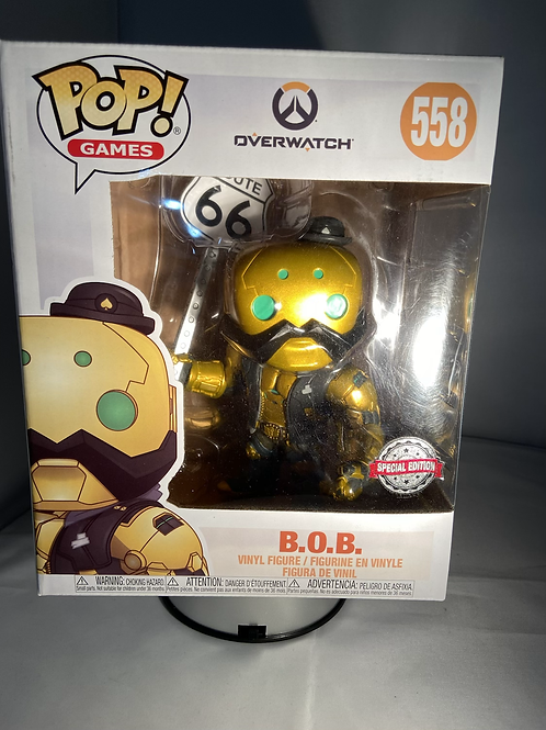 "Overwatch Bob 6"" B.O.B Metallic Exclusive Special Edition Funko Pop"