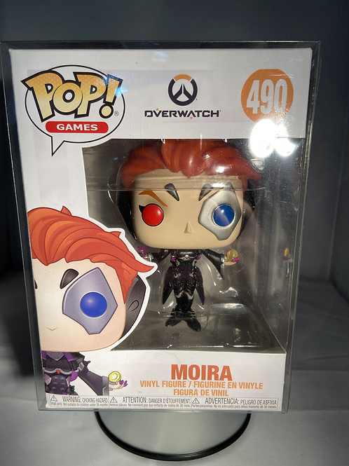 Overwatch Moira Funko Pop In Pop Protector