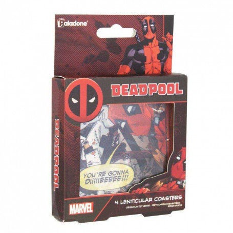Marvel Deadpool 4 Lenticular Coaster Sets