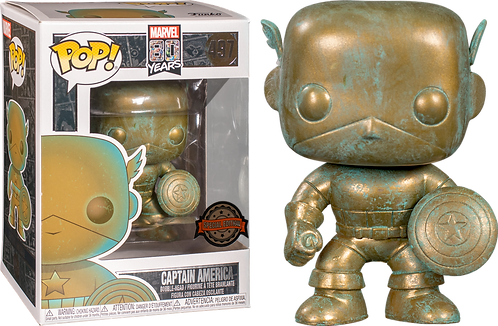 Marvel 80 Years Captain America Patina Funko Pop