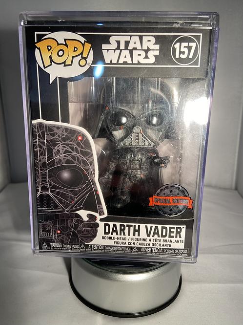 Star Wars Darth Vader Art Series Futura Funko Pop In Pop Stacker