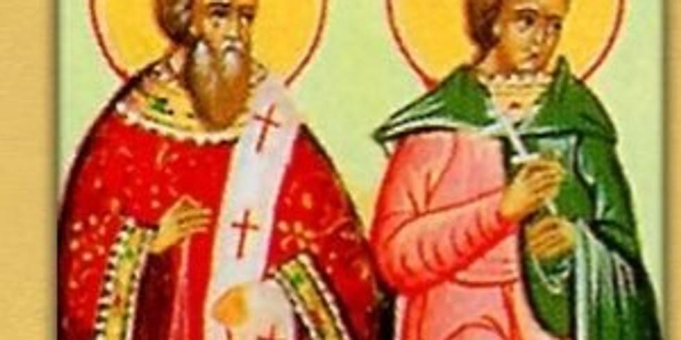 Duminica a V-a din Post Sf. Mc. Teodul si Agatopod; Sf. Mc. Victorin si cei impreuna cu el