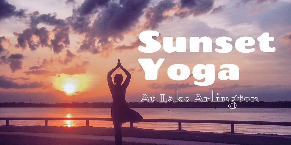 Sunset Yoga at Lake Arlington
