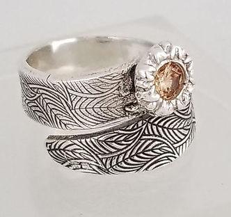 sterling silver ring metal clay handmade custom