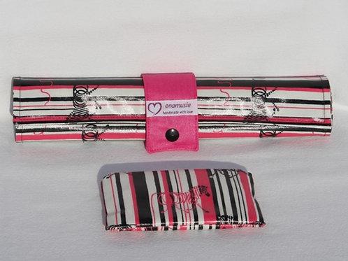 Roll-Maltafel 'Zebra' - pink