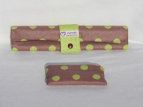 Roll-Maltafel 'Punkte lindgrün' auf hellbraun