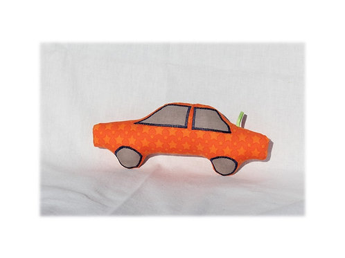 Rasselauto 'Sterne orange' #1502