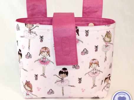 Lenkertasche 'Ballerina' als Geburtstagsgeschenk...