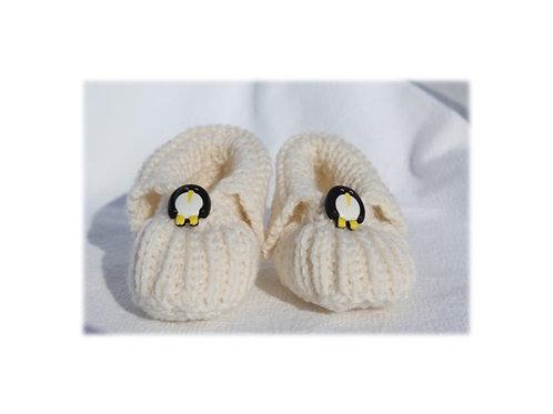 Babyfinkli weiss 'Pinguin'