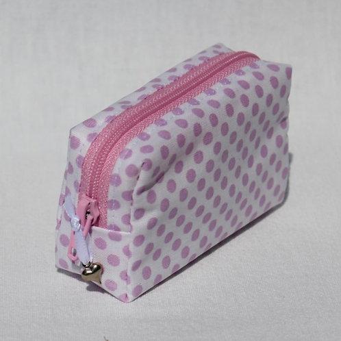 Mini-Etui 'rosa Punkte auf weiss' - RV pink