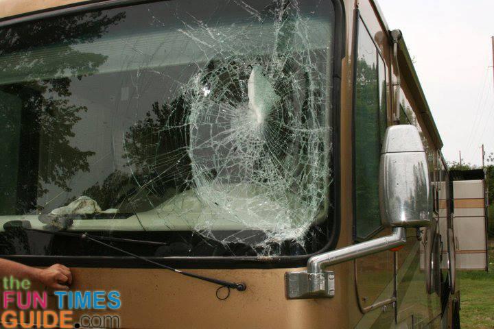 Motorhome windshields