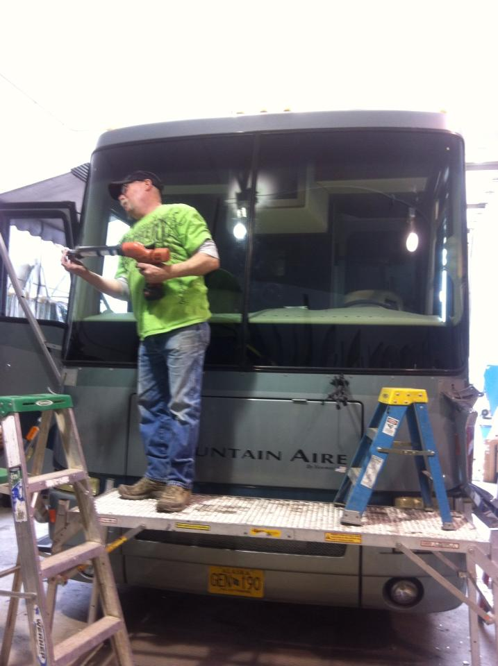 Motorhome glass replacement