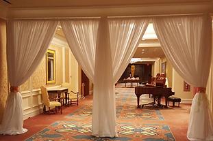 Add a little glitz to your entryway with fabric décor. Cheyenne Wyoming Little America Hotel Cheyenne wedding planner