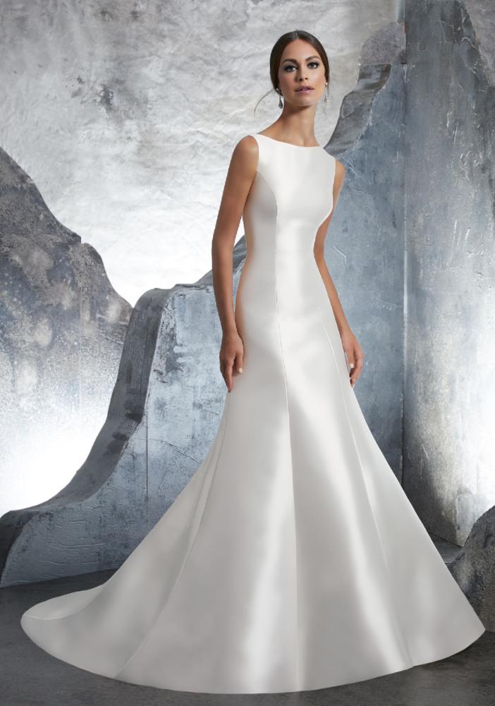 Morilee trumpet wedding dress