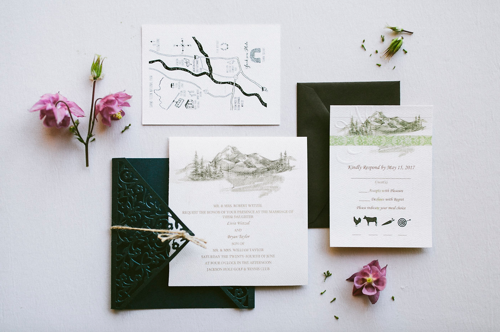 Laura Walker Photography Wedding Invitation Suite