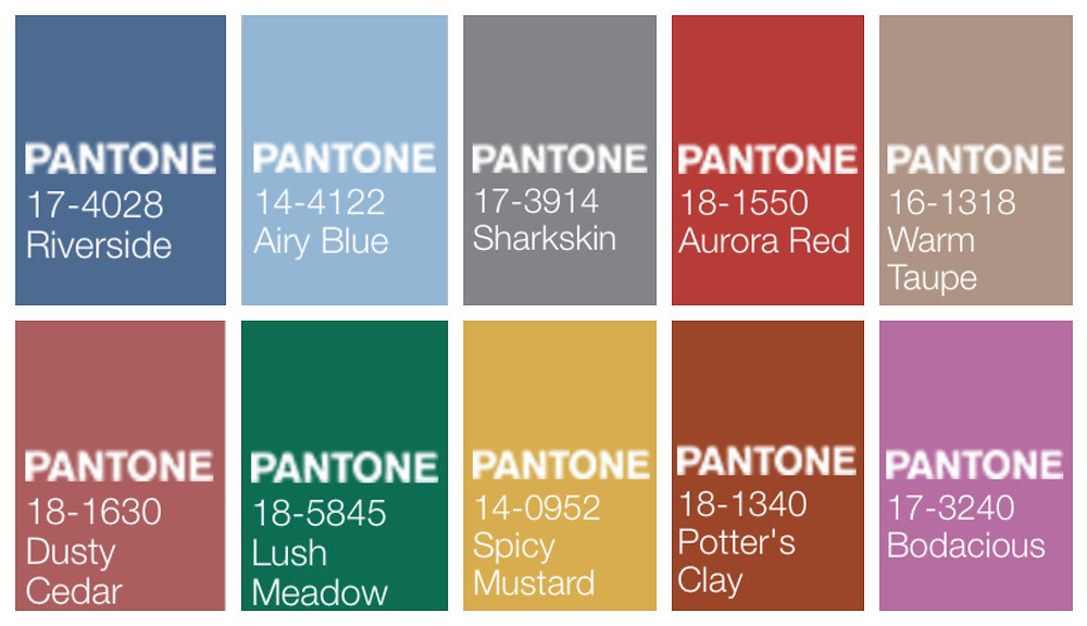 Pantone colors for fall 2016