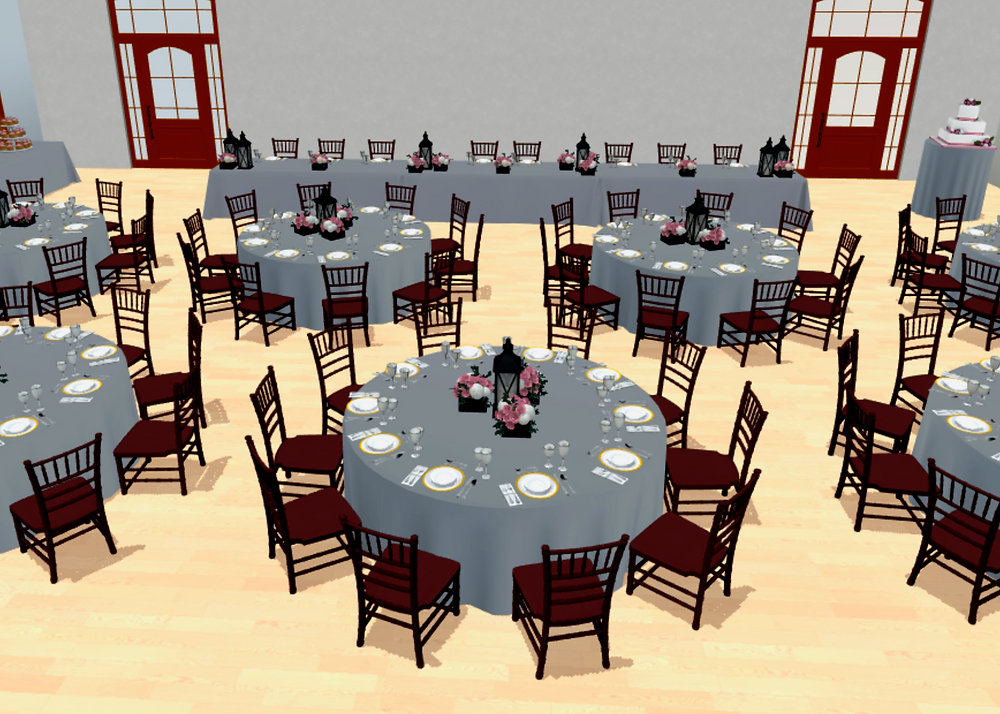 3d design of wedding reception