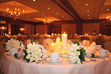 The dramatic floral is the perfect accent to this couple's elegant Wyoming wedding at Little America Hotel and Resort.
