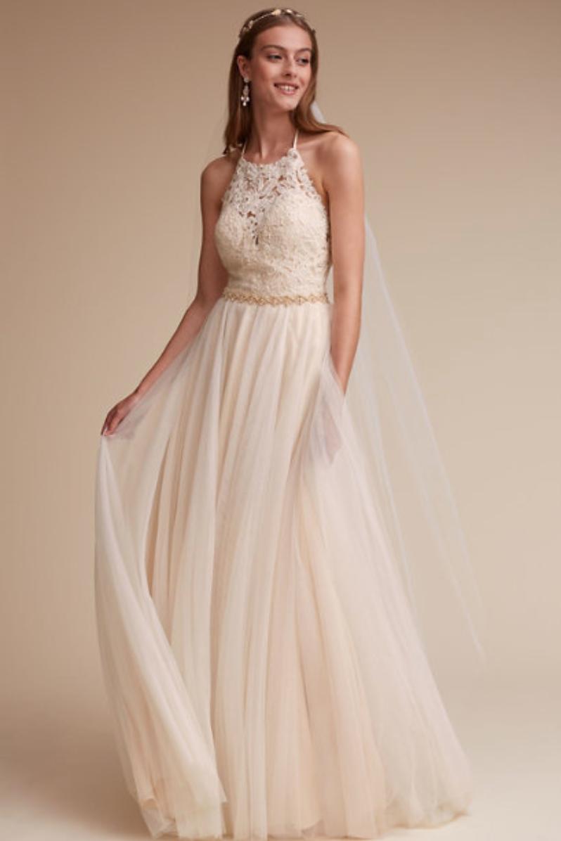 BHLDN A-line wedding dress