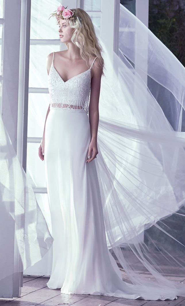 Maggie Sottero sheath wedding dress