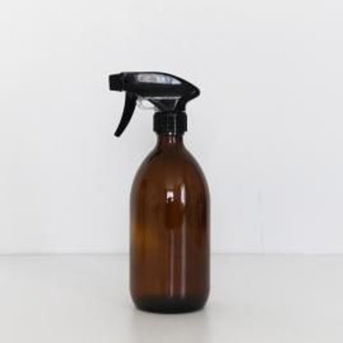 Unlabeled 500ml Glass Bottle with spray head