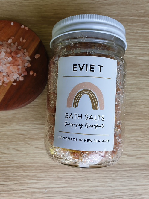 EVIE T BATH SALTS - Energizing Grapefruit