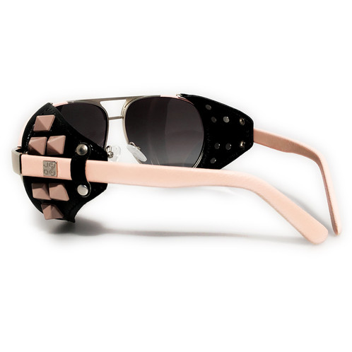 571074dd0dd Steampunk Leather Studded Shield Sunglasses. Shop USOM ® Unlabeled State Of  Mind Sunglasses Collection!
