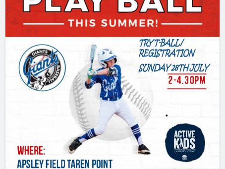 Come and Try T-Ball!