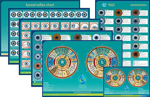 Integrated Iridology chart set