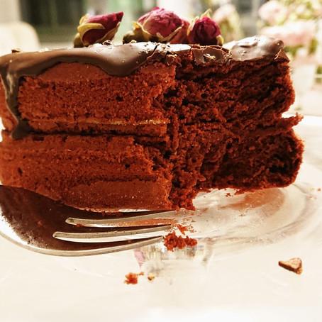 Red Velvet Cake Obsession   milchfrei mit Mandel - Buttermilch und Haushaltszuckerfrei  
