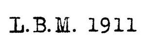 L.B.M. 1911 Parma