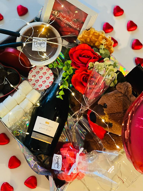 Fondue Valentine's Day Tray