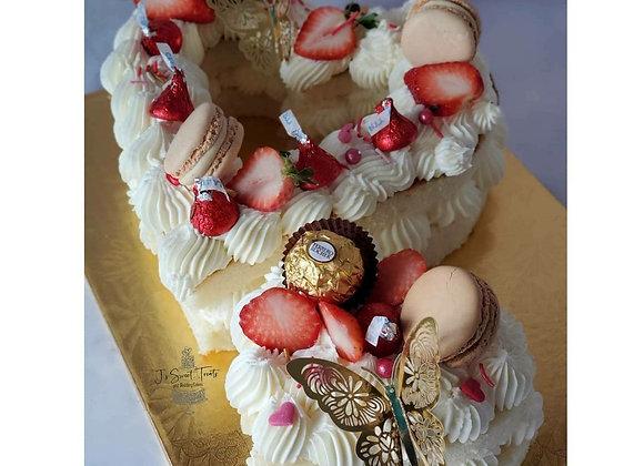 J's Artistic Heart Cake