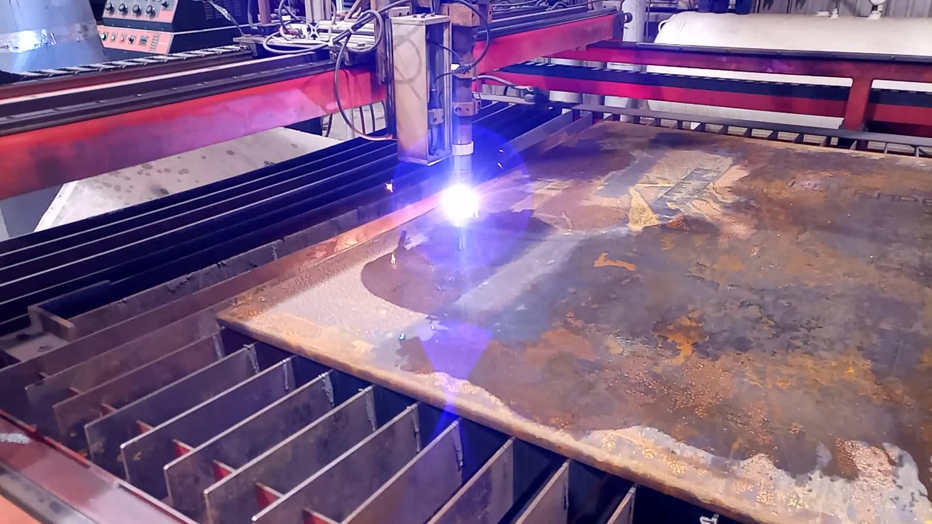 "Plasma cutting 1"" carbon steel slip blind"
